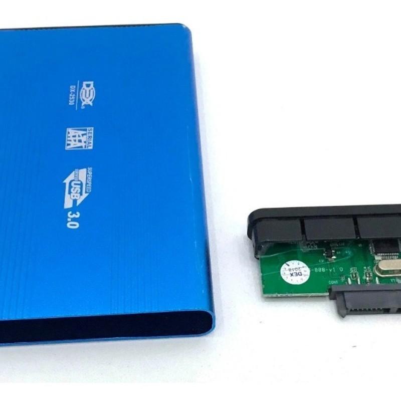 Case Para Hd Notebook 2,5 Sata Para Usb 3.0 dx-2530 Azul
