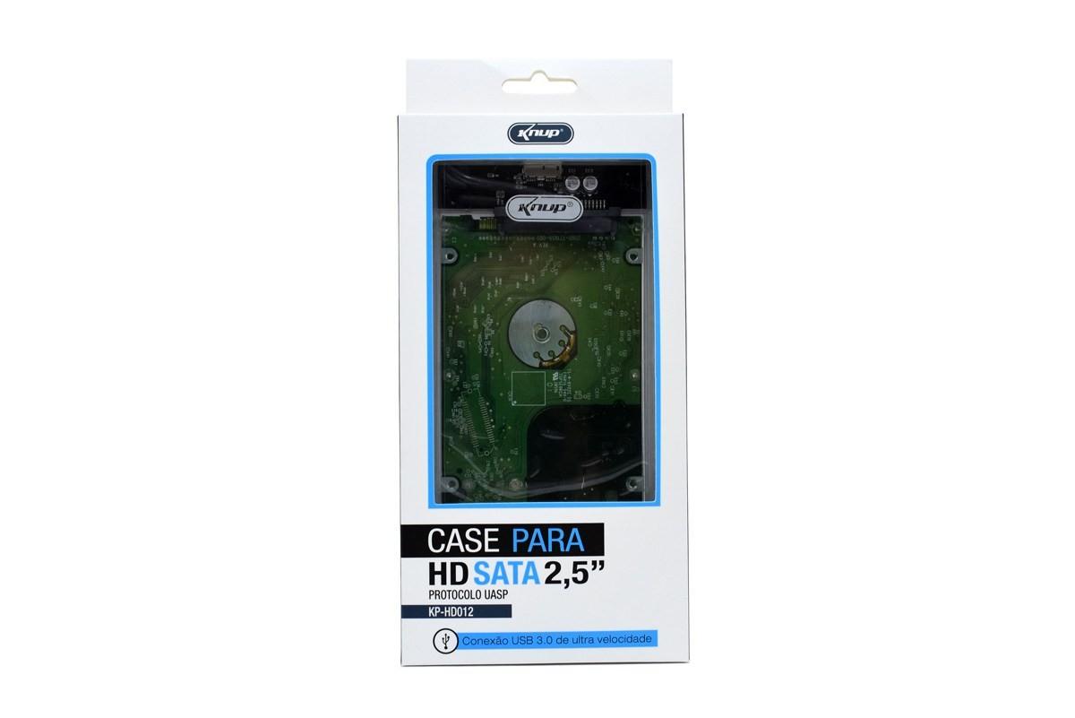 Case Para HD SATA 2,5