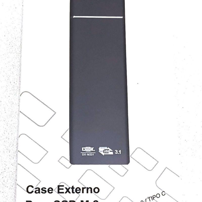 CASE SATA SSD M2 NGFF USB 3.1 TYPE-C DEX- DX-M231 PRETO