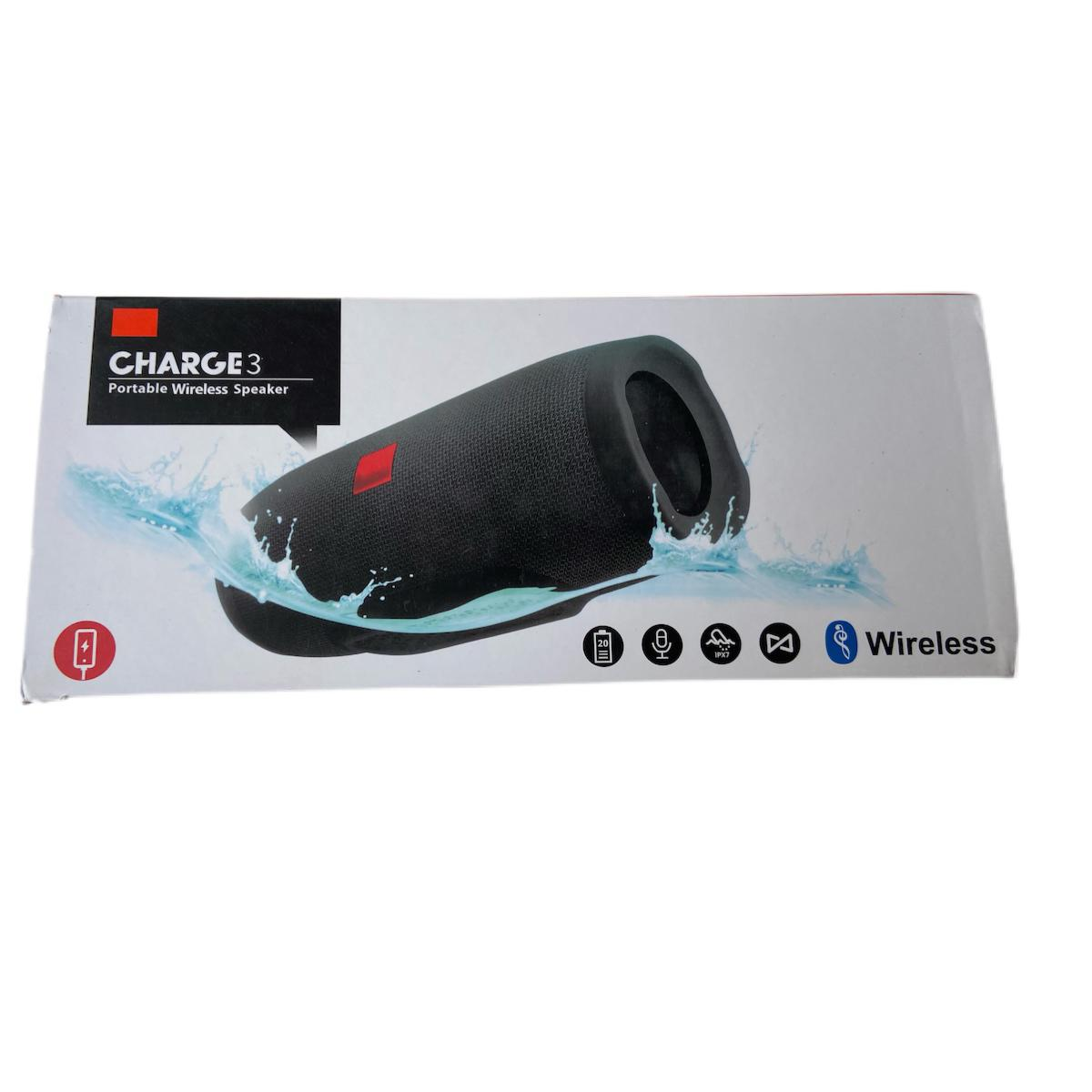 CHARGE 3 CAIXA DE SOM PORTATIL BLUETOOTH/USB/AUX CARREGA AZUL