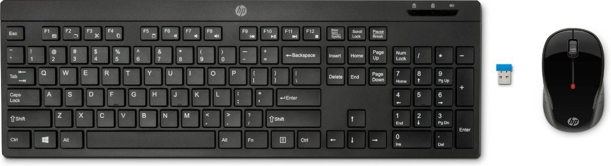 COMBO WIRELESS TECLADO E MOUSE 200 PRETO USB Z3Q63AA HP