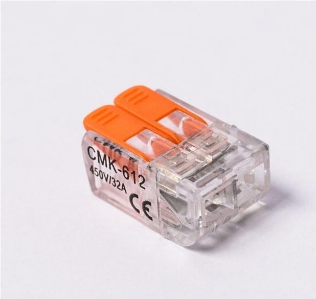CONECTOR EMENDA SIMPLES CMK221-612 - 2P - 6 PCS