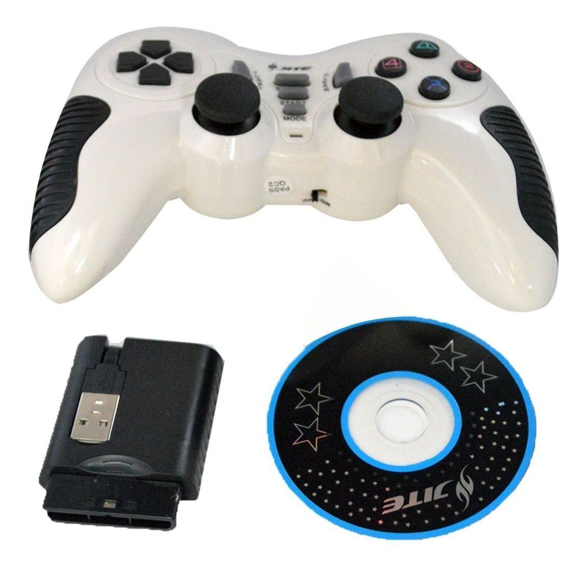 CONTROLE 3IN1 PS2/PS3/PC SEM FIO PILHA CX-506 SHK