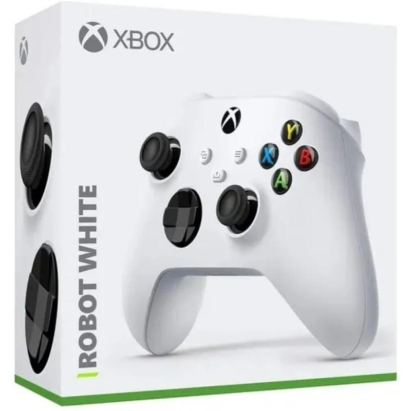 CONTROLE JOYPAD XBOX SERIES / XBOX ONE / PC ROBOT WHITE BLUETOOTH  MICROSOFT ORIGINAL