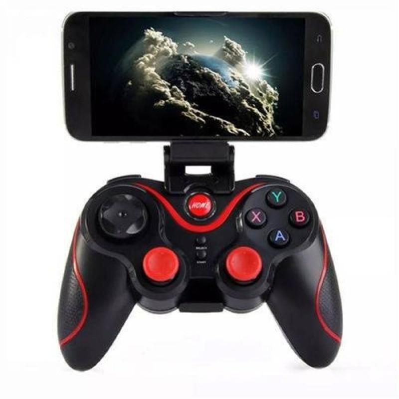 Controle Sem Fio Bluetooth Gamepad Para Android e IOS Vermelho SHINKA SH-GM-013