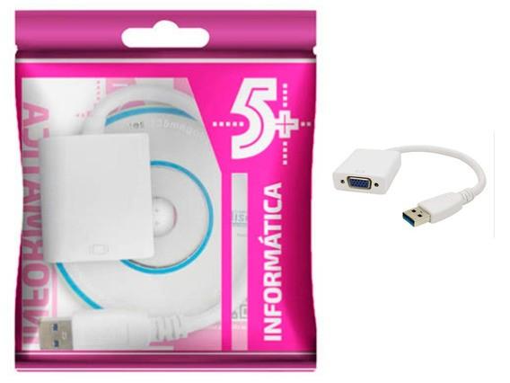 CONVERSOR DE VIDEO - USB PARA VGA - 15CM