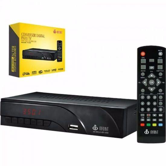 Conversor Digital Para Tv Infokit Controle Remoto Hdmi Rca ITV-400