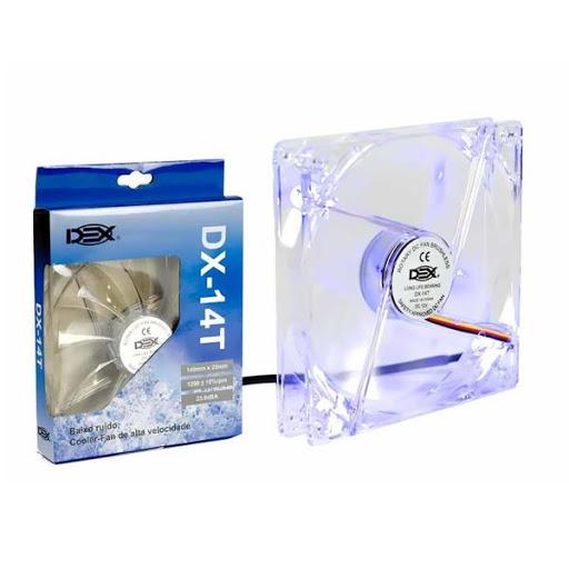 Cooler Dex Led Azul Transp Dx-14T 140MM
