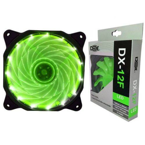 Cooler Fan 14 Led Verde 12cm 120x25 120mm 2 Plugs Dx-12f