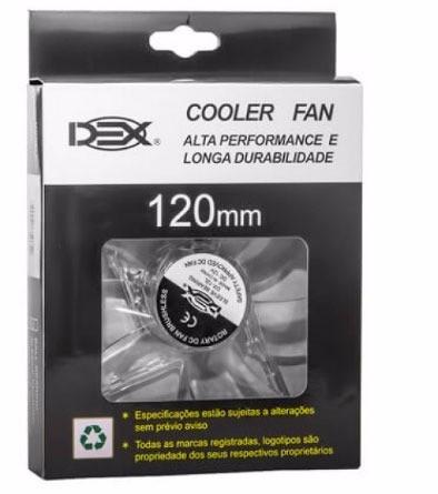 Cooler Fan 4 Led BRANCO 12cm 120mm Gabinete Vent Dx-12lBR