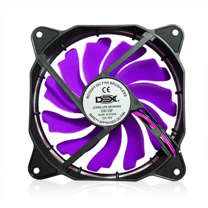 Cooler Fan C/led Roxo 120x120x25 12cm Gabin Vent Dx-12frx