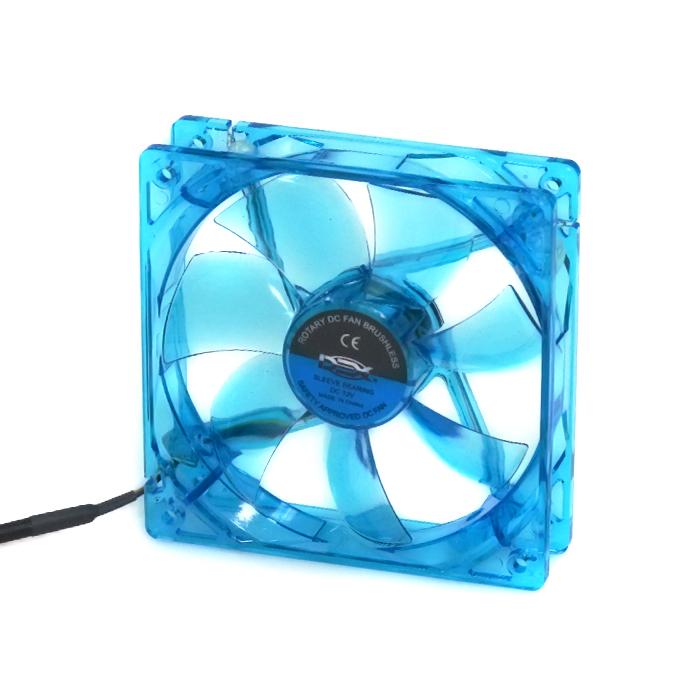 Cooler Fan Led 12cm 120x120x25 120mm Azul Led 2 Plugs DX-12L