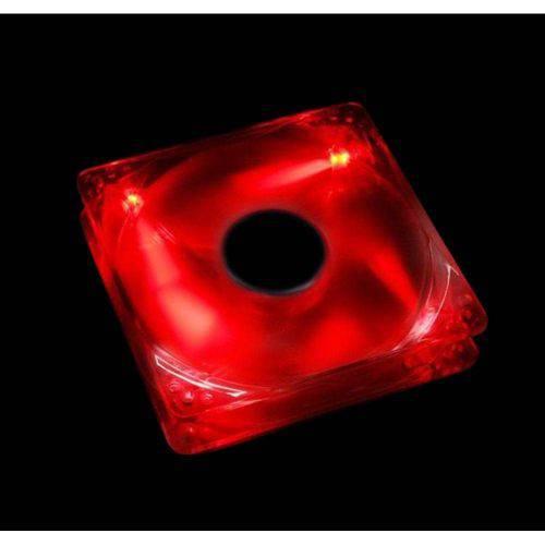 Cooler Fan Led Vermelho 12cm 120x120x25 120mm Red Led 2 Plug