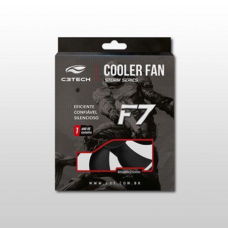 COOLER P/GABINETE 80x80x25 PRETO F7-50BK C3 TECH