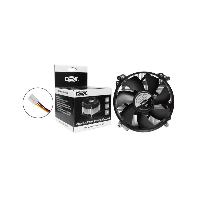Cooler P/ Processador Intel 1150/1155/1156 Dex Dx-1150d