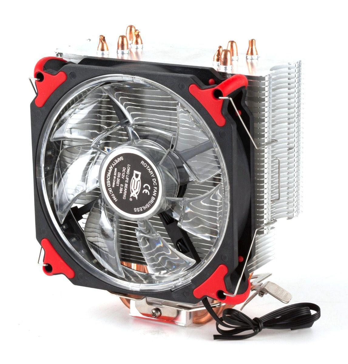 Cooler Para Cpu Universal Com 21 Leds Vermelho Dx-2021 socket 1366/ 1150/ 1156/ 775 - AMD: FM2+/ FM2/ FM1/ AM3+/ AM3/ AM