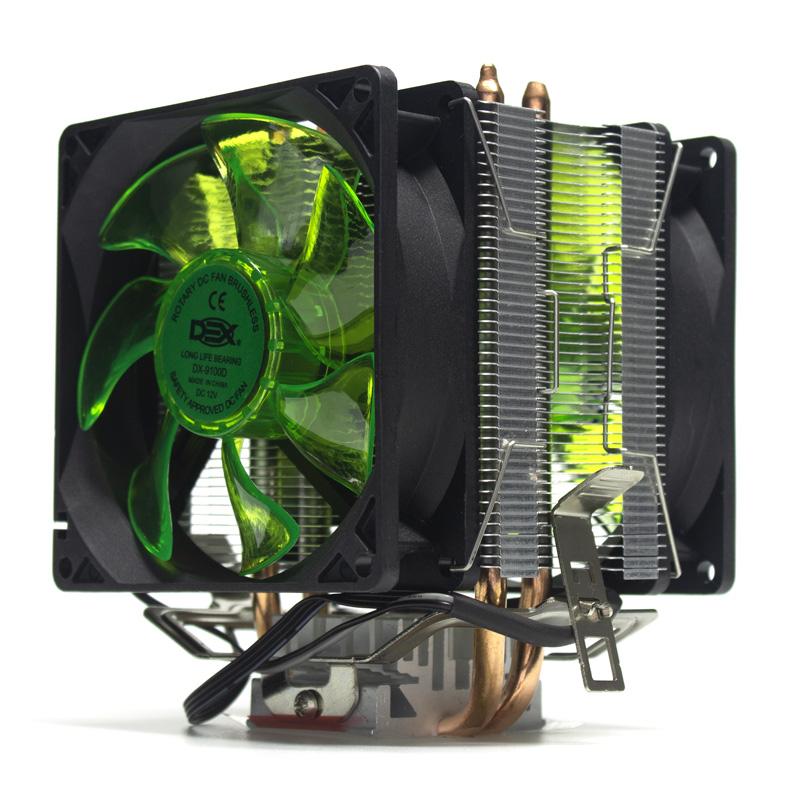 Cooler Processador Intel / Amd Dx - 9100d Led Verde DX-9100D