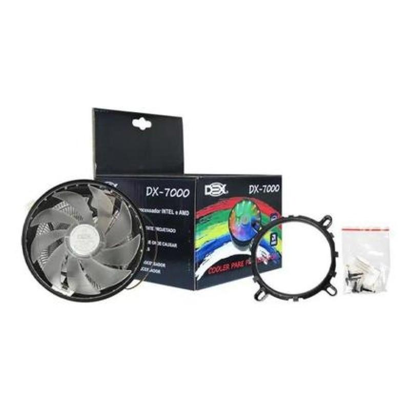 Cooler Processador Rgb Pc Intel 1150 1151 1155 Fm2+ Am3+ Am4 DX-7000 Dex