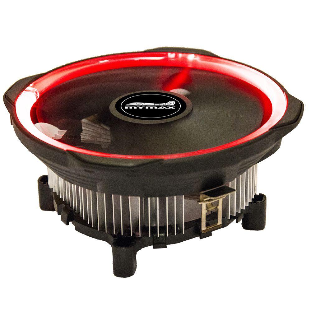 Cooler Universal Cpu 775 1155 1150 1151 Am3 Am4 Led Vermelho Mymax (MYC/CCHX12-RD)