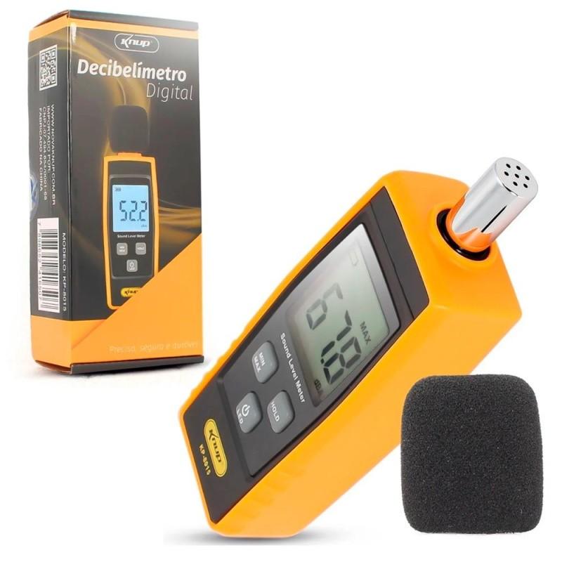 Decibelímetro Digital Medidor De Som Digital 30-130 Decibéis KP-8015 Knup