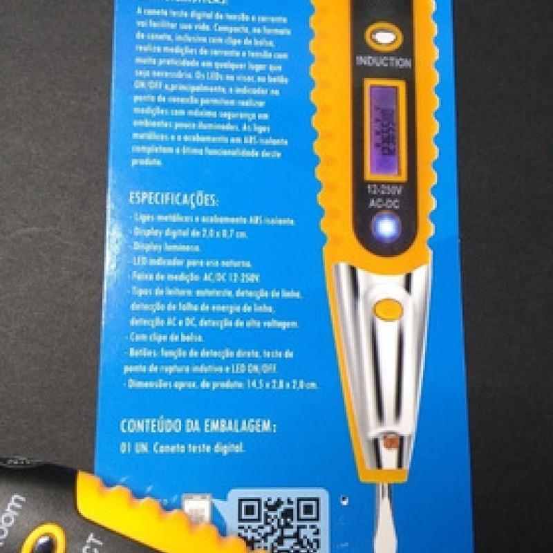 DETECTOR DE TENSAO DIGITAL LCD DISPLAY MEDIDOR COM SENSIBILIDADE AJUSTAVEL EXBOM CNTT-D10