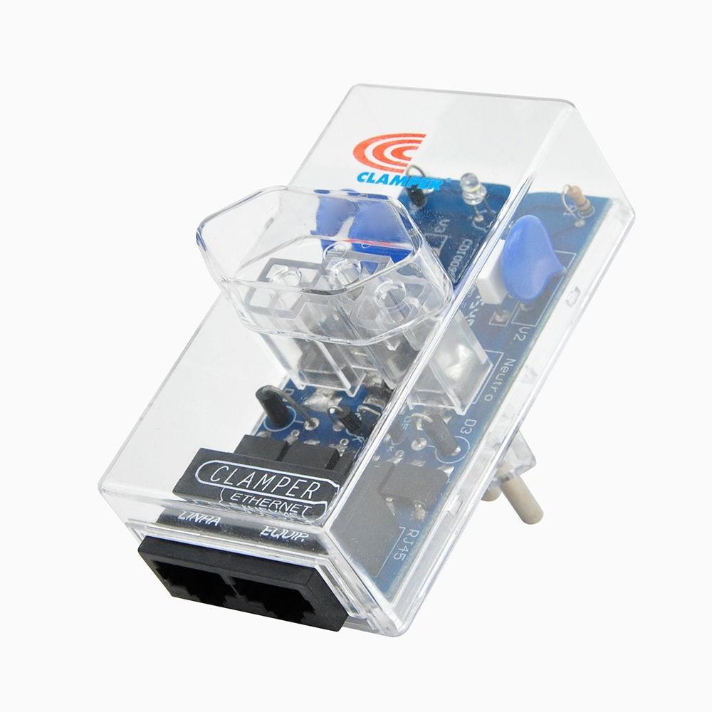 DPS iCLAMPER ENERGIA + ETHERNET POE 3P 10A BIVOLT TRANSPARENTE CLAMPER 011074
