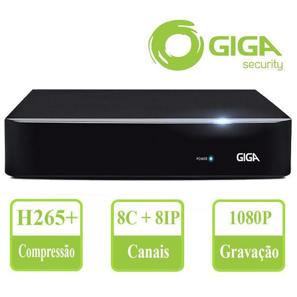 Dvr Hvr 8 Canais Giga Security 5mp Serie Orion Gs0191