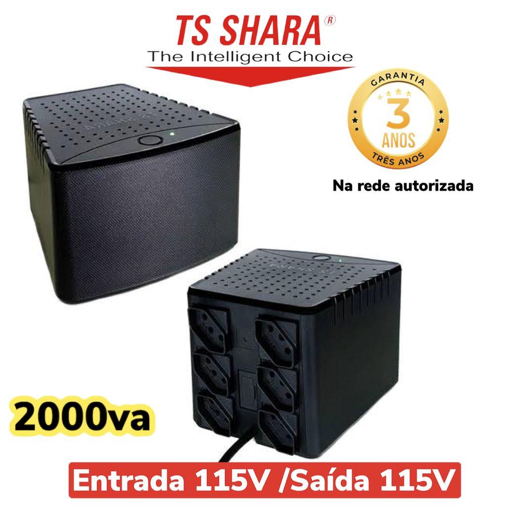 Estabilizador POWEREST 2000va TS Shara Mono 115V 6T Saida 115V 9010