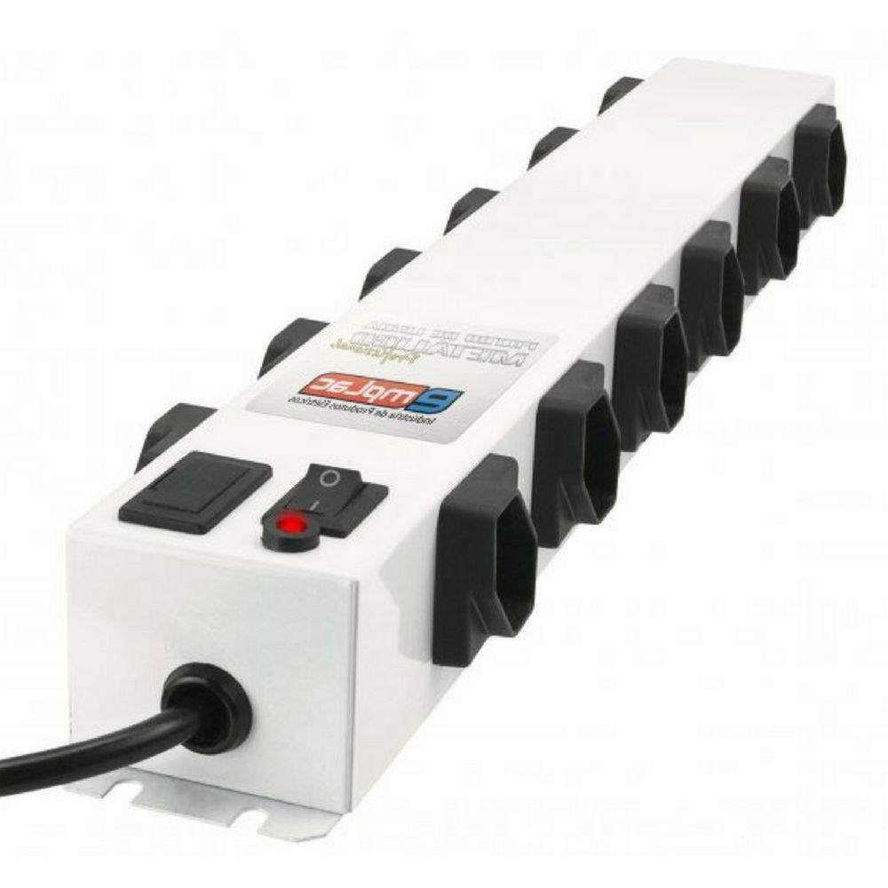 Filtro de linha 12 tomadas 10A bivolt metálico 1m F50103 Emplac