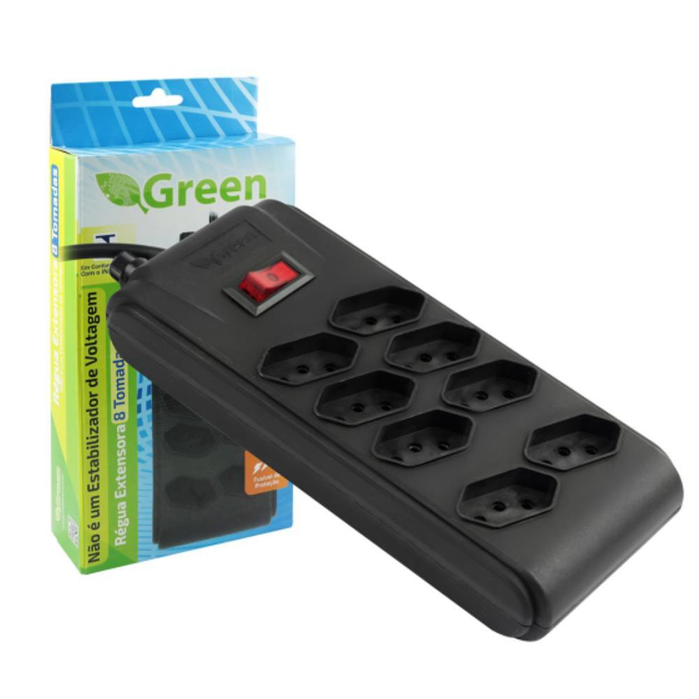 Filtro De Linha De 8 Tomadas GREEN bivolt