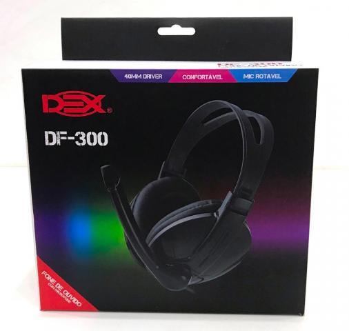 Fone De Ouvido Com Microfone Headset P2 Pc E Notebook df-300 Dex DF-300PT1