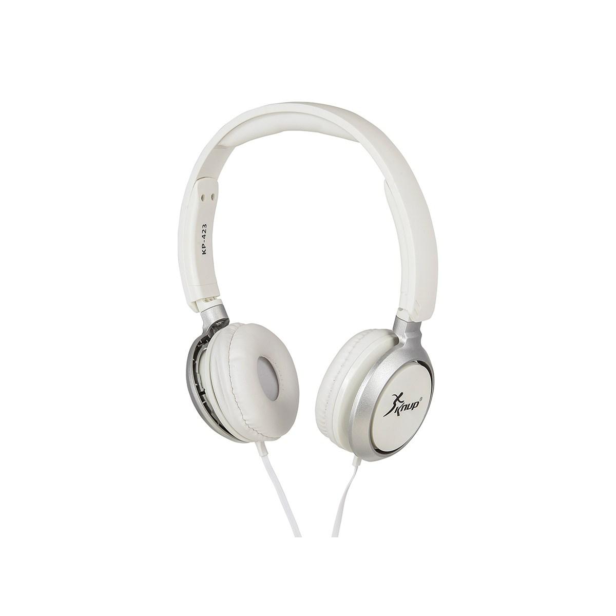 Fone De Ouvido Com Microfone Knup Kp-423 p2 Branco
