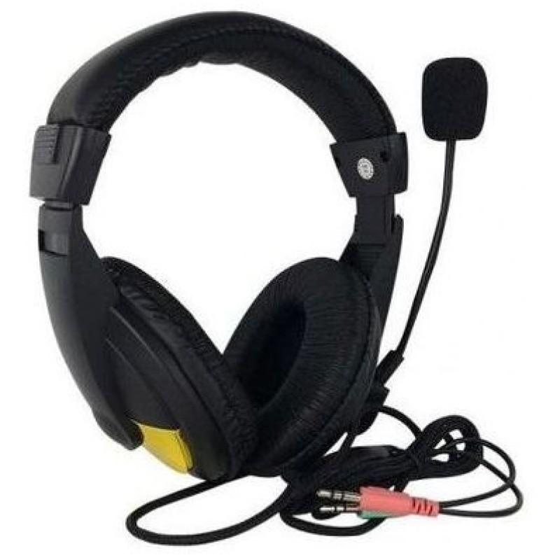 Fone De Ouvido Com Microfone P2 Kp-320 Knup Para Notebook Pc Detalhe Dourado