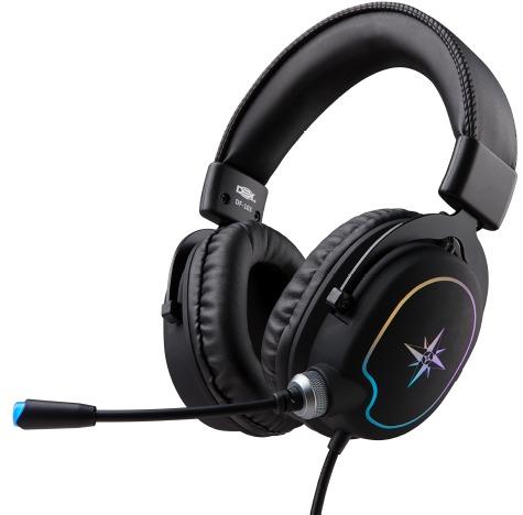 FONE DE OUVIDO HEADSET GAMER DEX USB LED RGB 7.1 DF-103 #MEGAPROMO