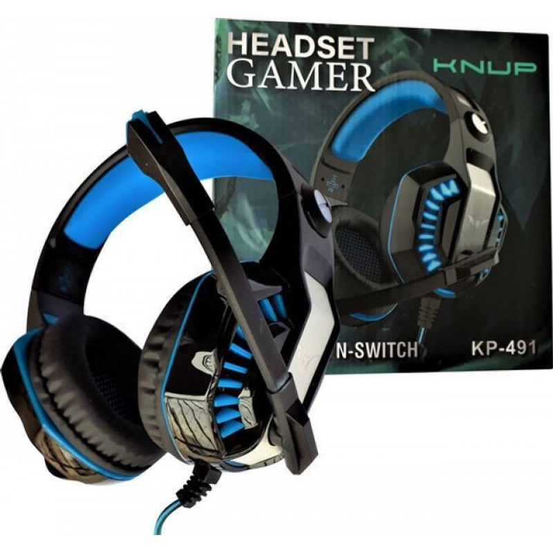 Fone De Ouvido Headset Gamer Knup Kp-491 Sound Efect