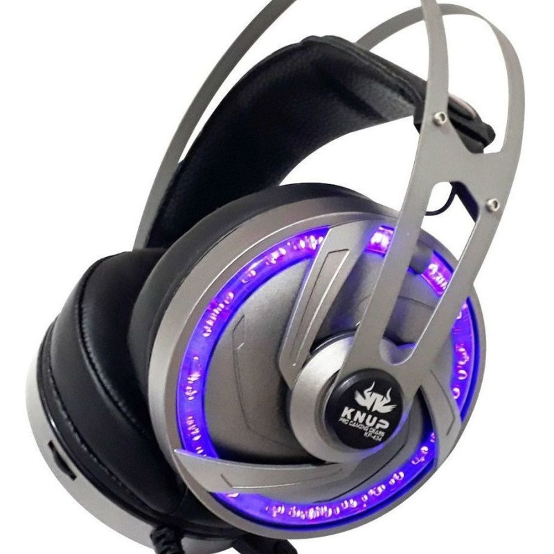 Fone De Ouvido Headset Gamer p2 + usb Pro Kp-434 - Knup Top