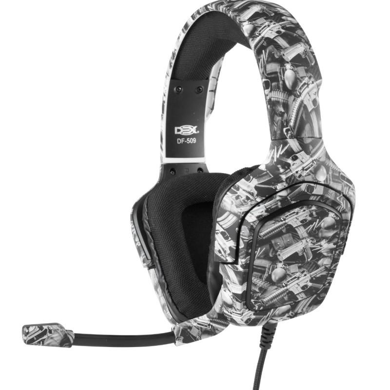 FONE DE OUVIDO Headset Gamer P3 Camuflado C/microfone P/ ps4/ X-one E Celula DF-509 Dex #MEGAPROMO