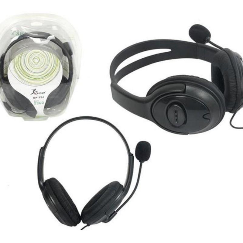 Fone De Ouvido Headset Xbox 360 Com Microfone E Volume 100mw KP-324 Knup #MEGAPROMO