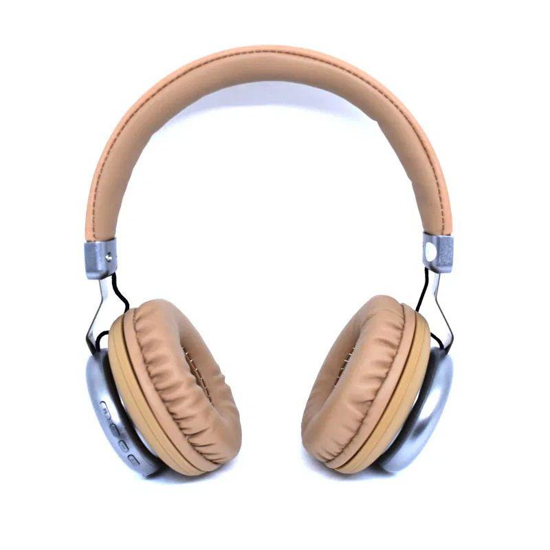 Fone De Ouvido Marrom Bluetooth P2 Micro Sd Fm Knup Super Bass KP-452