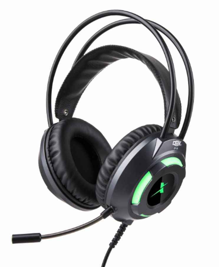 Fone Headset Gamer P3 C/led Usb + Adaptador Y P2 Ps4 pc notebook DF-80 VERDE