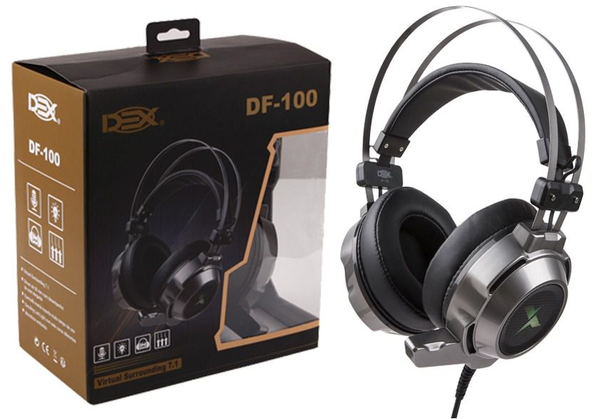Fone Headset Gamer Usb 7.1 Surround C/led Ps4/pc/notebook DF-100