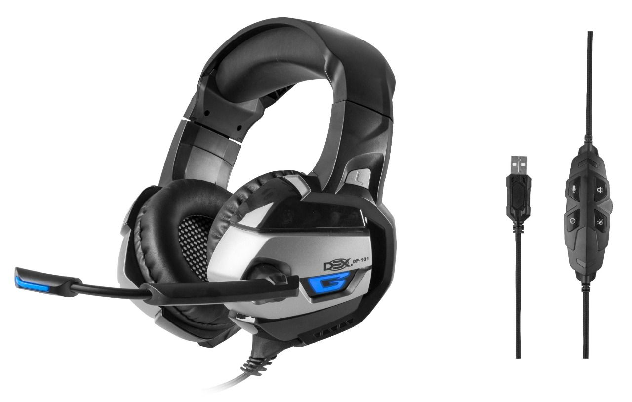 Fone Headset Gamer Usb 7.1 Surround Led Pc/play Ps4/not Mic DF-101