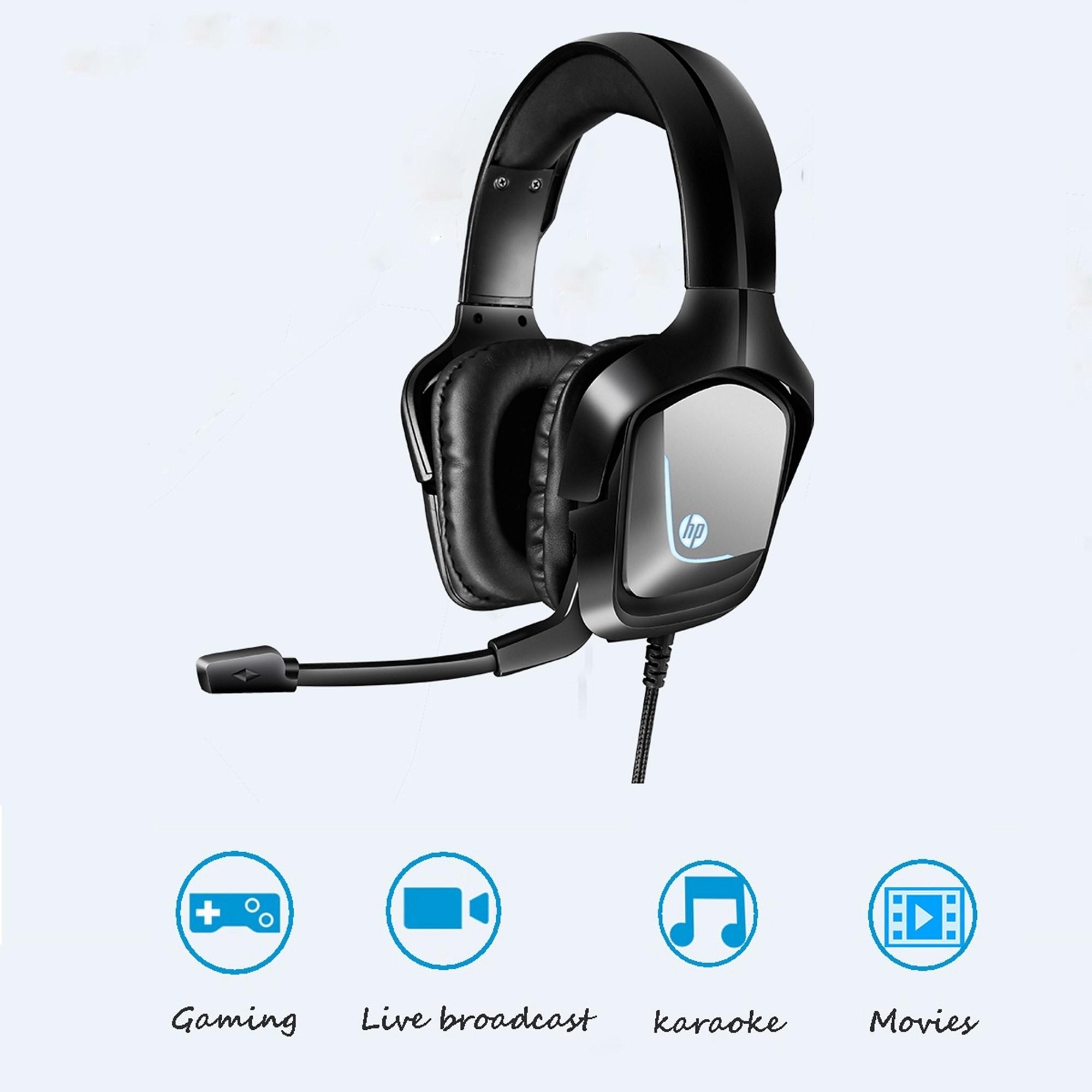 Fone Headset HP Inc GAME 7.1 USB H220GS LED H220GS