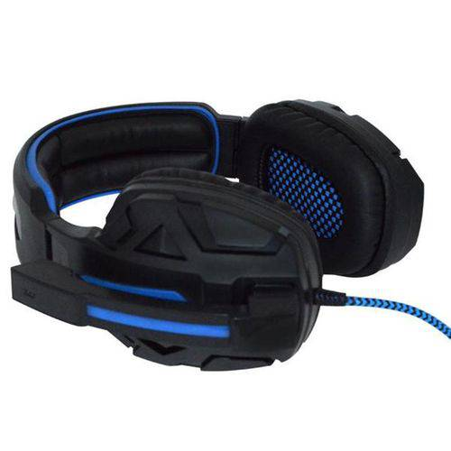 Fone Usb Headset Gamer 7.1 Surround Iluminado Cabo 2,2mts df-96