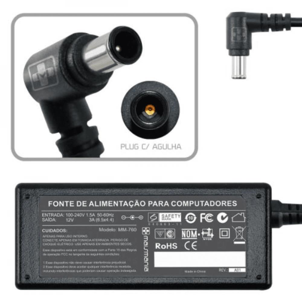 FONTE 12V 3A PARA MONITOR PINO GROSSO FT-12V-3A