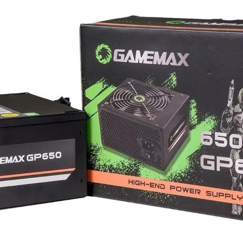 FONTE ATX 650W REAIS 80Plus BRONZE GP650 BOX GAMEMAX