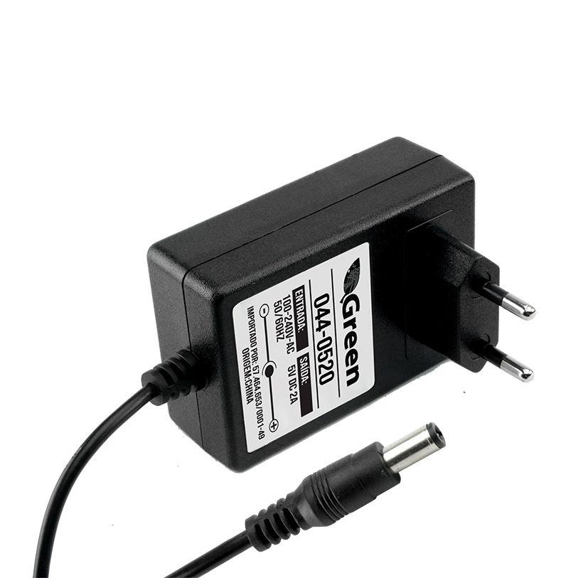 FONTE CHAVEADA 5V 2A - PLUG 2,1MM X 5,5MM COMPATIVEL COM TV BOX