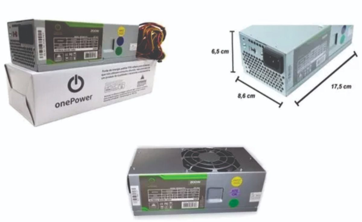FONTE DE ALIMENTACAO ONE POWER TFX 200W MP200WTFX