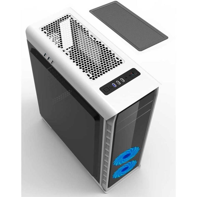 GABINETE ATX (S/FONTE) 1B GAMER ELYSIUM G503X-W BRANCO GAMEMAX com 3 COOLERS RGB