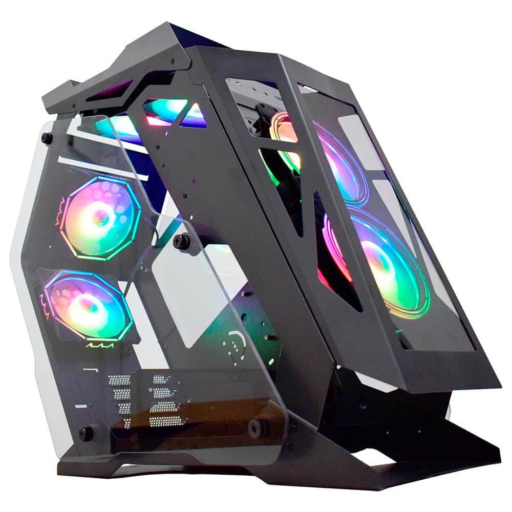 GABINETE GAMING CASE MOD MICRO RANGER PRETO/LED RGB CG-01PQ K-MEX